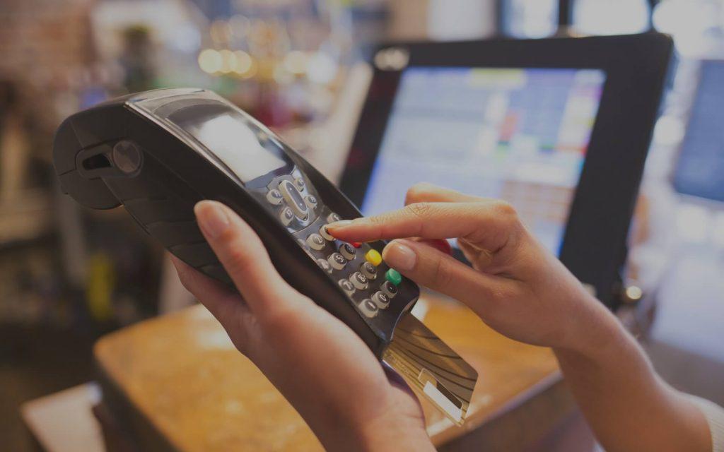 Kartenlesegerät zum Bezahlen